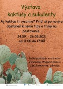 Plagat výstava kaktusov